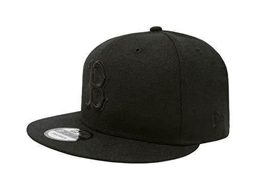 New Era Authentic Boston Redsox Black on Black 9Fifty Snapback Cap Adjustable 950 -