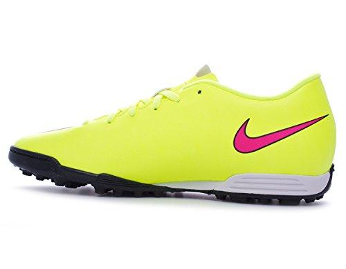 Nike 651649 760 - Botas de fútbol de Piel Lisa para hombre Amarillo Gelb - Volt/Hyper Pink-Black 39