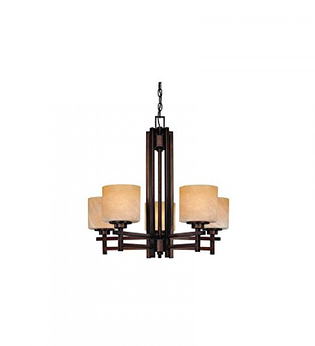 (Dolan Designs 2810-133 Roxbury 5 Light Chandelier, English Bronze)