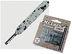 (ミスターレーシー)Mr.Lacy PRINTIES GREY/BLACK CEMENT シューレース グレー/ブラック セメント 130cm 11982
