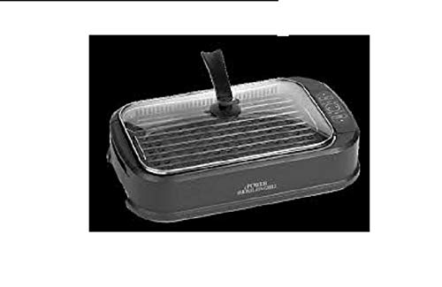 Power Chef Electric Grill - Smokeless Indoor Electric Grill With Tempered Lid & Interchangeable Griddle Plate