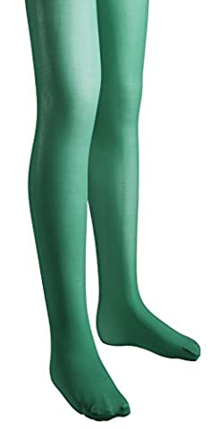 Sportoli8482; Girls Microfiber Deluxe Hold and Stretch Footed Ballet Dress Tights - Kelly (size 10/12)