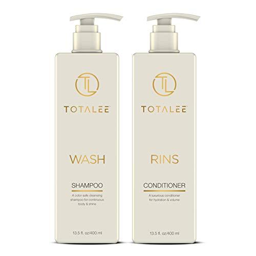 TOTALEE WASH and RINS Shampoo & Conditioner Set (2 x 13.5 fl oz) SLS & Paraben Free - Naturally-Derived Ingredients, Hydrating & Volumizing ()