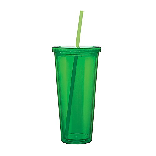 Eco To Go Cold Drink Tumbler - Double Wall -20oz. Capacity - Apple