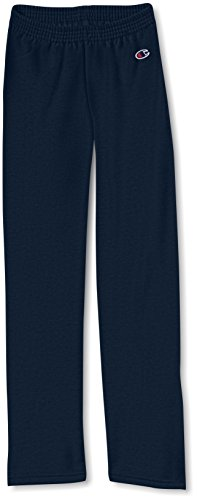 Champion Boys Big Boys' Powerblend Eco Fleece Sweatpant, Navy, XL (Boys Pants Active)
