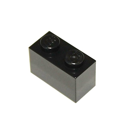LEGO Parts and Pieces: Black 1x2 Brick (New 2x2 Lego)