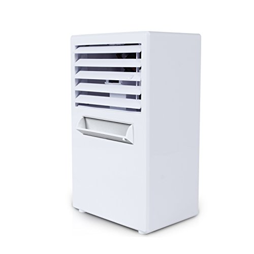 Fitfirst Portable Air Conditioner Fan, 3 in 1 Personal Space Air Cooler, Humidifier, Purifier, Desktop Cooling Fan Personal Table Fan Used Office Home Kitchen(White)