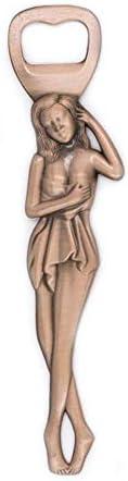 ykxykw Metal 3D en Relieve Belleza Rusa Abrebotellas de Belleza Abrebotellas de Belleza Sacacorchos Sacacorchos Extractor de Corcho Decoración del hogar