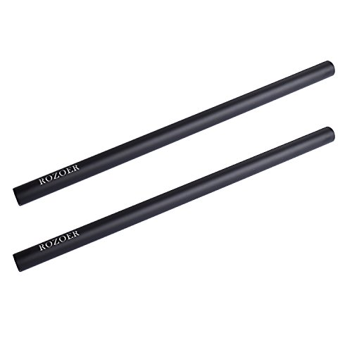 ROZOER 30 cm Long 15mm DSLR Rod with M12 Thread in Both End for DSLR Rig Shoulder Support (12'' New Version, Aluminium Alloy) by ROZOER