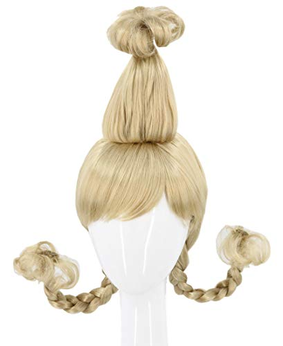 Topcosplay Women or Girl Wigs Long Blonde with Wire Braids Halloween Cosplay Costume Wig