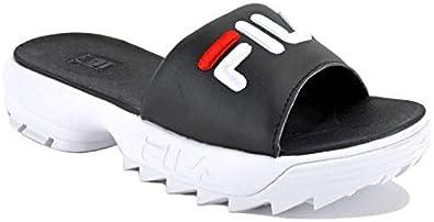 fila disruptor sandals black