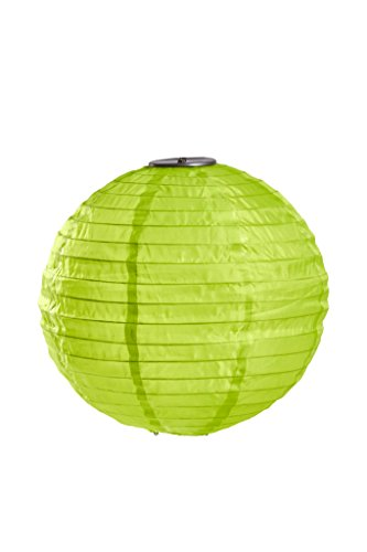Allsop Home and Garden Soji Illume 14 LED Outdoor Solar Lantern, Handmade with Weather-Resistant UV Nylon, Lime (1-Count)