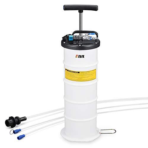 EWK Pneumatic/Manual 6.5 Liter Oil Changer Vacuum Fluid Extractor Pump Tank Remover (Marine Engine Oil Changer)