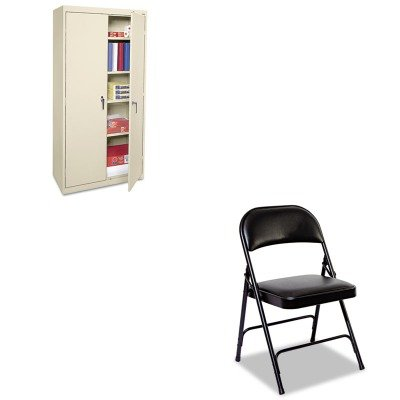 KITALECME7218PYALEFC96B - Value Kit - Best Economy Assembled Storage Cabinet (ALECME7218PY) and Best Steel Folding Chair With Padded Back/Seat (ALEFC96B)