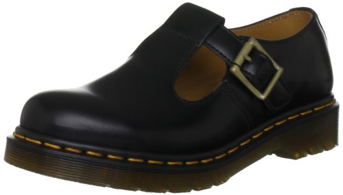 Adult Shoes Lady Jane (Dr. Martens Women's Polley Mary Jane Flat, Black Smooth, 4 Medium UK (6)