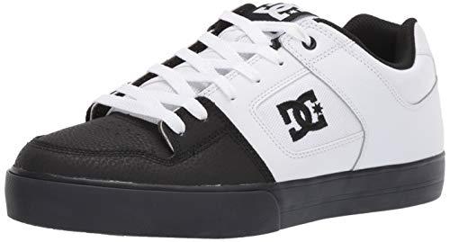DC Men's Pure Skate Shoe, White Black, 9 M ()
