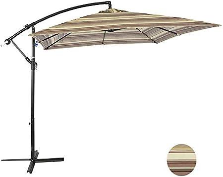 LHSUNTA Sombrilla de Exterior Sombrilla de jardín Mercado de sombrillas Sombrilla de Mesa al Aire Libre Sombrilla de Patio Botón de Empuje Terraza Sombrilla Sombrilla de Playa 2.4 * 2.4m LDFZ: Amazon.es: