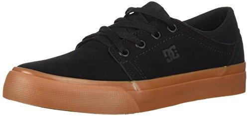 DC Boys' Trase Skate Shoe, Black/Gum, 5.5 M US Big Kid (Dc Kids Shoes)