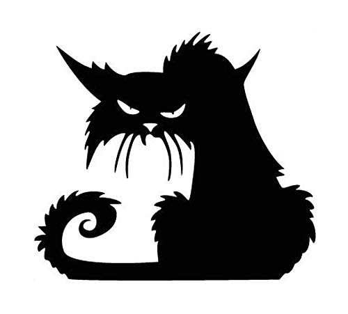 (HADIY Vinly Black Cat Removable Window Wall Sticker for Halloween Home Decoration,13 x)
