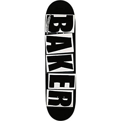 "Baker Skateboards Brand Logo Black/White Skateboard Deck - 8.12"" x 31.5"" : Sports & Outdoors"