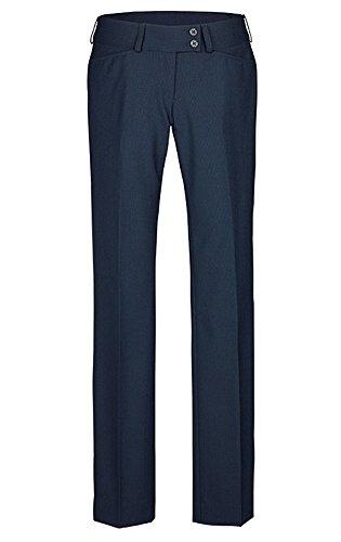 Greiff �?pantalón de traje para mujer, calidad prémium, corte recto –Style 1352 Blau-Mikrodessin