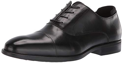Kenneth Cole REACTION Men's Edge Flex Lace Up B Oxford, Black, 9 M US