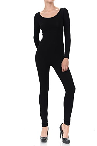 - 31qdRKbv2CL - 7Wins JJJ Women Catsuit Cotton Lycra Tank Long Sleeve Yoga Bodysuit Jumpsuit