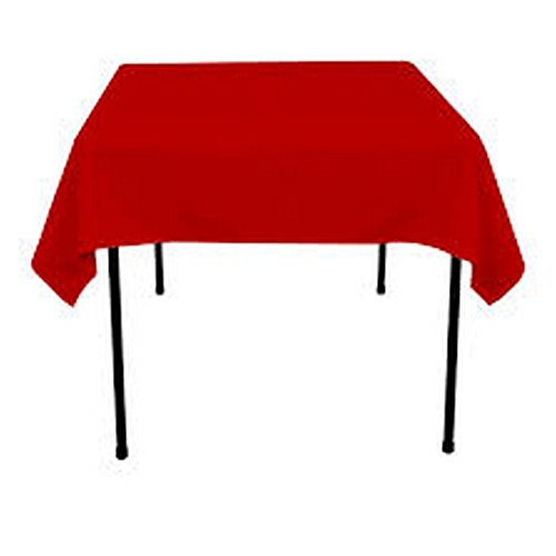 RDS 1 Set Of 48'' X 48'' Red Square Polyester Table Cloth For Wedding Party & Venue Decoration (Premier Square Tablecloth)