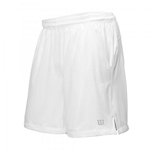 Wilson Herren Oberbekleidung Rush 9 Woven Shorts, weiß, L, WRA743201