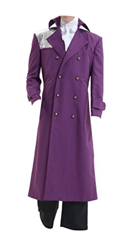 Skycos Mens Purple Coat Prince Cosplay Costume Halloween Outfit (S, Purple) ()