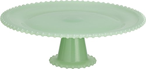 Green Glass Relish - Transpac Glass Cupcake Stand, Large, Green