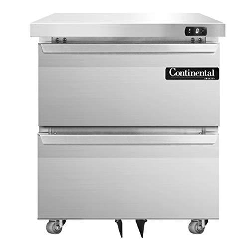 Continental Refrigerator DLF27-SS-U-D Designer Line Single Section Undercounter Freezer, 27
