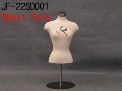 Short Stand Roxy Display Female Body Form JF-22SDD01+BS-05CPS Counter Top Display