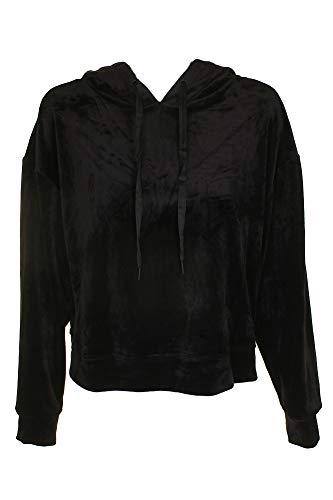 Sanctuary Women's Melrose Brigade Velour Hoodie Sweatshirt Black ()