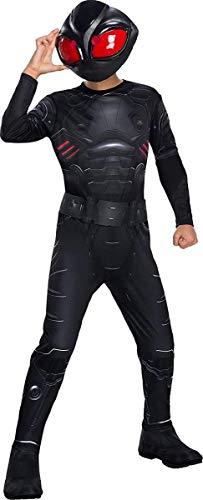 Rubie's Boys Aquaman Movie Child's Black Manta Costume, -