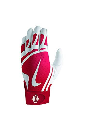 new style d1f00 053ca Nike Youth Huarache Edge Batting Gloves White University Red Size Large