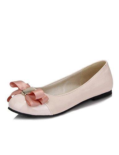 PDX/ Damenschuhe - Ballerinas - Lässig - Kunstleder - Flacher Absatz - Rundeschuh - Rosa / Weiß pink-us7.5 / eu38 / uk5.5 / cn38