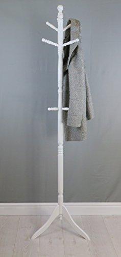Amazon.com: Cleo perchero de pie de madera con 9 hooks-solid ...