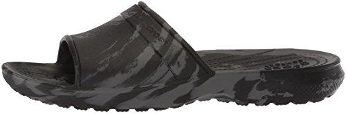Crocs Unisex Classic Swirl Slide GS Sandal, Black, 2 M US Little Kid by Crocs (Image #5)