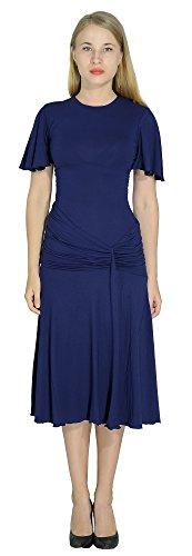 (Marycrafts Womens Drop Waist Midi Dress Flapper Vintage Retro 1920s 10 Dark)