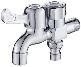 AQZMEA - Doble Grifo de Agua de latón, uno en Dos lavadoras de ...