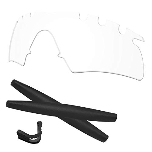 Vented Hybrid Accessory Lenses - Predrox Crystal Clear M Frame Hybrid Vented Lenses & Rubber Kits Replacement for Oakley Sunglass