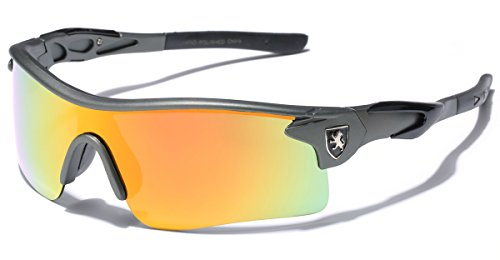 Premium Polarized Men's Sports Cycling Fishing Baseball Running Sunglasses - Gray