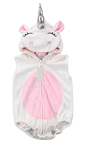 Hooded Unicorn Romper Costume for Babies/Toddlers Halloween Make Believe Dress up