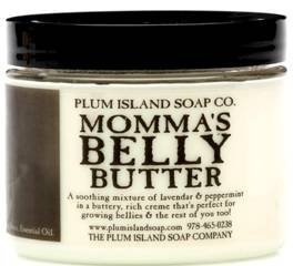 Plum Island Soap Company Momma's Belly Butter Lavender and Peppermint Pregnancy Balm made in New England