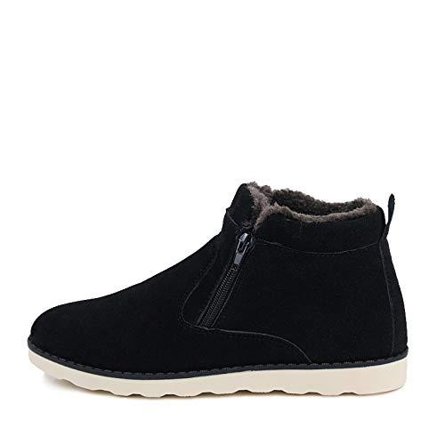 Maschili Inverno Snow Uomo Black Adulto Walking Scarpe Solid Boots Mens Fhcgmx Caldo Antiscivolo Gomma Stivaletti Boot Per 1YUEWgx