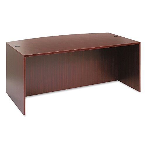 Alera ALEVA227236MY Valencia Bow Front Desk Shell, 71w x 35 1/2d to 41 3/8d x 29 5/8h, - Executive Front Bow Desk
