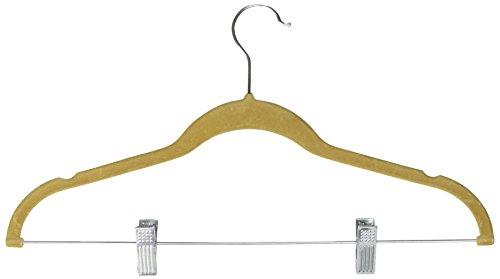 UPC 054006676011, Achim Home Furnishings Velvet Coat Hangers, Tan, 10-Pack
