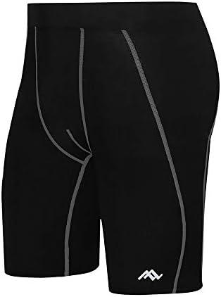 メンズ スポーツ タイツ 夏メンズ速乾性の実行スポーツフィットネスタイツの吸汗通気性ショーツ 吸汗速乾 トレーニング (色 : Black, Size : M)