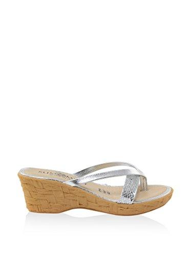SUMMERY FEMME - Sandale en Synthétique - argent - 84_501_ARGENTO_GLITTER